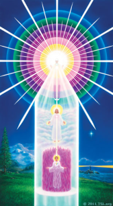 Aura strengthening tube of light