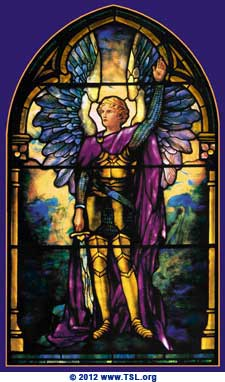 Archangel Michael by Tiffany