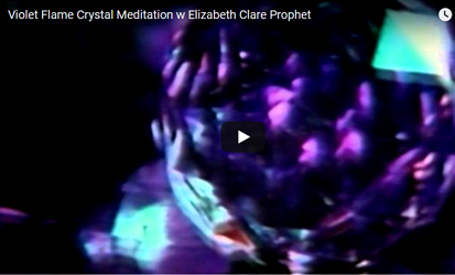 violet flame crystal meditation