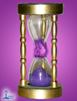 violet flame at the nexus of the hourglass